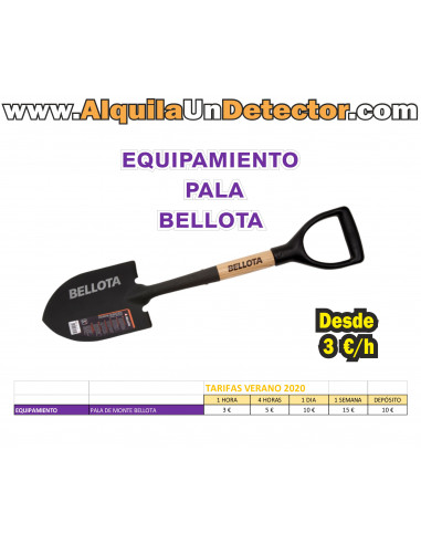 Equipamiento PALA DE MONTE BELLOTA